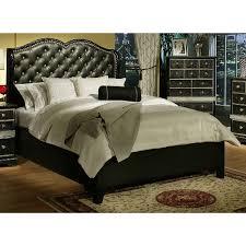 Hollywood Glam Bedroom Sets Sandberg Furniture 351 Hollywood Glamour Upholstered Bed The Mine