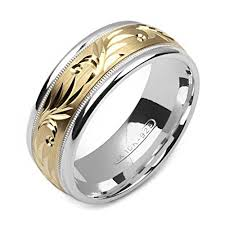 two tone mens wedding bands 10k two tone gold mens wedding band