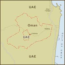 map of oman and uae a map of the united arab emirates exclave inside the oman flickr