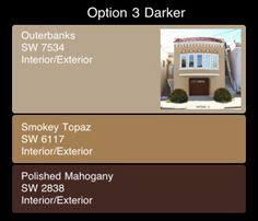 sherwin williams exterior paint color combination in the