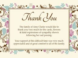 bereavement thank you cards sle bereavement thank you note funeral cards ideal portray
