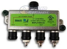 directv 4 way wideband swm satellite splitter split4mrv from