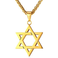 golden necklace women images Collare magen david star necklaces pendants gold color stainless jpg