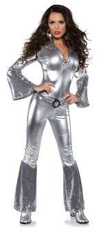 jumpsuit costume s silver foxy disco jumpsuit costume apple costumes
