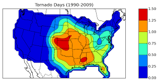 tornado map oklahoma climatological survey tornado days 1990 2009