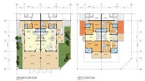 cluster home floor plans cluster garden home type b