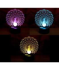 varna crafts lees 3d illusion peacock led l pack of
