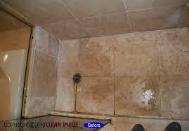 travertine shower floor refinishing and tile