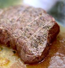 cuisiner un roti de boeuf au four rôti de boeuf cuisson basse température au four