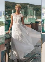 jw16060 light and airy lace cap sleeves beach summer wedding dress