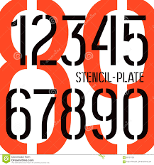 stencil plate numbers military style stock vector image 60191158