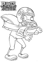 football zombie in plant vs zombie coloring page football zombie