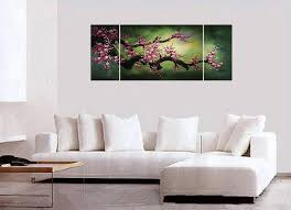 feng shui decor shui painting wall art decor chinese cherry blossom painting