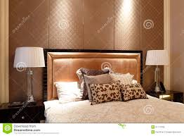 simple like a hotel bedroom in the apartment stock photo image