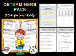 determiner pack parts of speech u2013 10 printables by