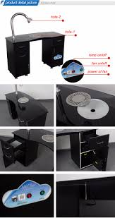 nail table ventilation systems beauty salon nail table manicure table with air outlet fan system