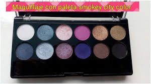 Make Up City Colour maquillaje con la paleta city color smokey pantera makeup
