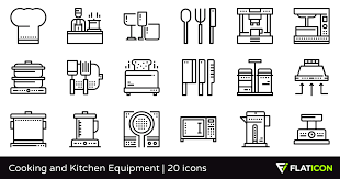 cooking and kitchen equipment 20 free icons svg eps psd png files