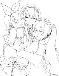 lineart vocaloid by shonen alice on deviantart