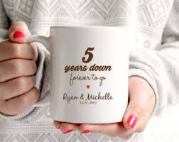 fifth wedding anniversary gifts 5th anniversary gift etsy
