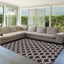 7x10 Area Rug 7x10 Area Rug Black Floor Decor Trellis Geometric Versatile Design