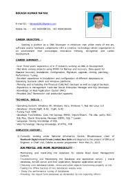 Profile Summary For Oracle Dba Bikash Kumar Nayak 1
