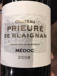 chateau blaignan medoc prices wine château prieure de blaignan médoc 2008 wine info
