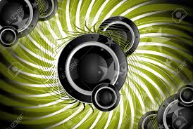 Cool Speakers Spiral Music Cool Music Theme With Bass Speakers Green Spiral