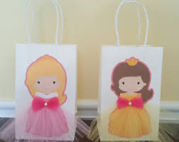 princess candy bags princess favor bags etsy
