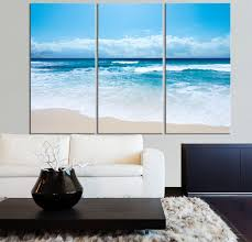 large wall art ocean beach and wave canvas print seascape