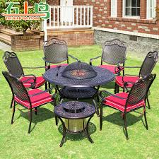 Bbq Tables Outdoor Furniture by Buy 6 Person Outdoor Bbq Barbecue Tables And Chairs Courtyard