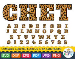 cheetah letters etsy