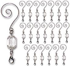 decorative ornament hangers clear acrylic silver