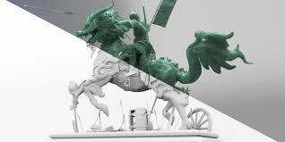 qilin statue qilin statue 3d by arnald andujar zbrushtuts
