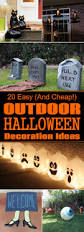 Diy Outdoor Decorations For Halloween by Cheap Easy Halloween Decorating Ideas 50 Best Diy Halloween