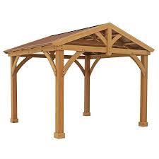Patio Gazebo 10 X 12 by Amazon Com Premium Cedar Wood U0026 Metal 12 U0027 X 10 5 U0027 Outdoor