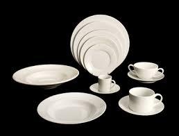 white china solid white china