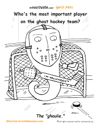 ghost hockey coloring