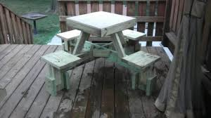 Build A Picnic Table Do It Yourself by A Diy Floating Picnic Table Thechive