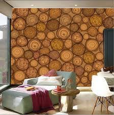 custom 3d mural rings the tree wood cross section papel de parede