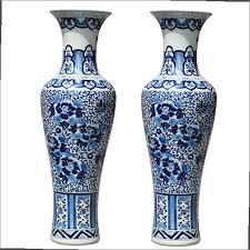 Large White Vases Large Blue And White Floor Vase Home Design Ideas