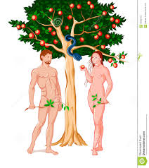 adam and eve stock vector image 46092753