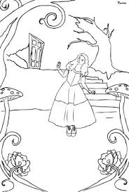 alice wonderland coloring free printable coloring pages
