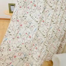 Orange And Beige Curtains Blue And Orange Plaid Pattern Floral Beige Linen Cotton Kids Curtains