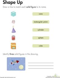 solid figures shape up worksheet education com