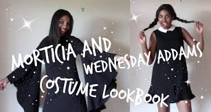 Morticia Addams Dress My Spin On Wednesday And Morticia Addams Costumes Lookbook Youtube
