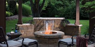 Belgard Fire Pit by Belgard Water Feature With Fire Pit Swimming Pool And