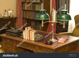 Antique Office Desk by Classic Oil Lamp On Antique Office Stock Photo 2483083 Shutterstock