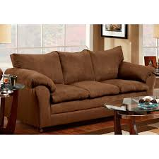 Pillow Arm Sofa Slipcover by Gail Pillow Top Arm Sofa Flat Suede Chocolate Dcg Stores
