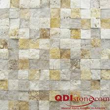 Split Face Stone Backsplash by Mix Travertine Split Face Tile Qdisurfaces